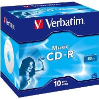 VERBATIM CD-R 80 MUSIC box 10pck / BAL