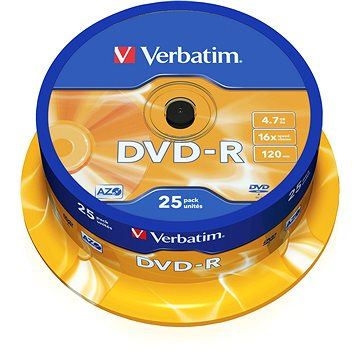 Verbatim DVD-R 16x, 25ks CakeBox