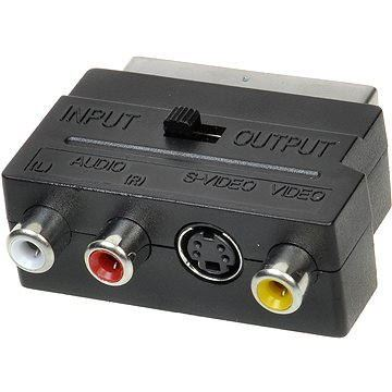 OEM scart - 3x cinch + S-video, prepínateľné IN / OUT