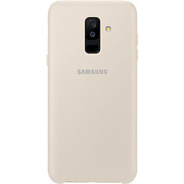 Samsung Galaxy A6 + Dual Layer cover zlatý