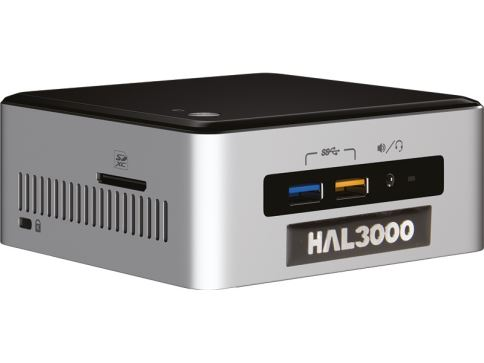 HAL3000 NUC Kit Core W10 / Intel Core i3-6100U / 4GB / SSD 120GB / WiFi / CR / W10