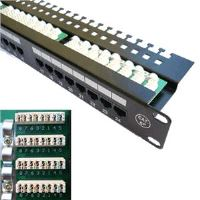 "Patch panel 24x RJ-45, Cat5e UTP, 19 ""s vyviazaním"