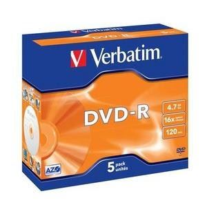 DVD-R médium Verbatim 4,7 GB 16x speed, jewel