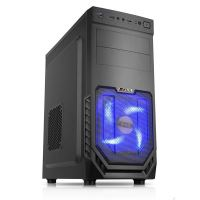 1stCOOL skriňa JAZZ 2, Midi Tower, AU, USB 3.0, Blue FAN, bez zdroja, Black