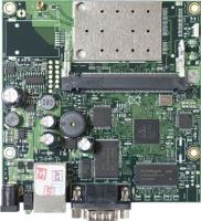 MikroTik RouterBOARD RB411AR, RouterOS L4, 1xLAN, 2,4GHz wireless card, 1xminiPCI